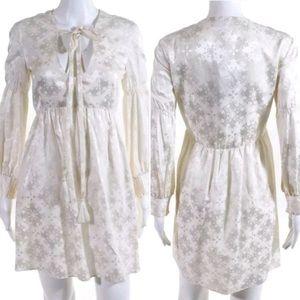 🎀Rachel Zoe 🎀 Silk White Babydoll Mini Dress